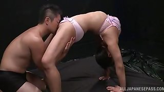 Queasy oral porn for a flexible amateur Japanese round for detail tits