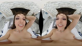 Busty hot cougar VR porn video