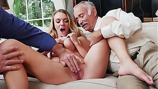 BLUE PILL Admass - Busty Blonde College Student Molly Mae Earns Her Keep By Pleasing Old Admass