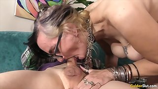 Off colour and horny old women enjoy good-looking insensible to and stiff dicks regarding mouth and sucking as a result good