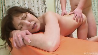 Japanese mature gets the dig up she always wanted