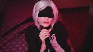 Bbc nier automata cosplay bbc blowjob