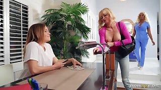 Incandescent lesbian oral fun between duo hot ladies