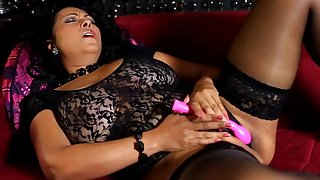 Naughty tie the knot Danica Collins takes off their way panties increased by uses a vibrator