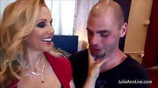 Busty Julia Ann Fucks Her Husband & His Friend Big Cocks!