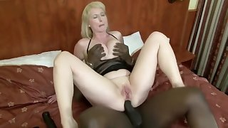 Busty Mature Woman Moans While Letting In A Vicious Black P