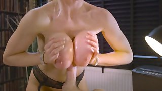Cougar milf fucked at work after serious oral and foreplay nudity