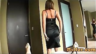 Hot busty mom fucked son in hotel