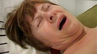 59 years old granny masturbating
