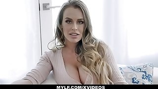 MYLF - Cougar With Big Special Fingers Herself