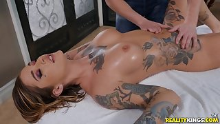 Astounding Kleio Valentien in crazy rub-down porn scenes