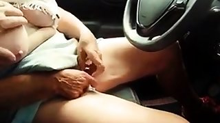 72 yr old granny  Masturbate in Car