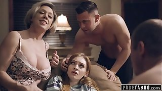 Thorough TABOO Step-Parents & Step-Bro Acceptable New Wet-nurse in Perv Family