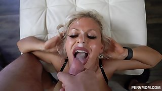 Dirty cougar loads her miserly holes with a big dick
