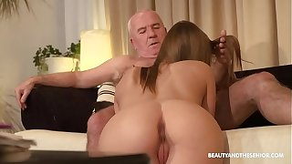 Old agriculturist gets horny and fucks his hot niece