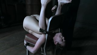 Petite princess Sasha Heart pledged and distressing to multiple orgasms
