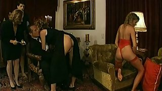 Amateur porn milf chicks receives a hot creampie stopping awesome gangbang scene