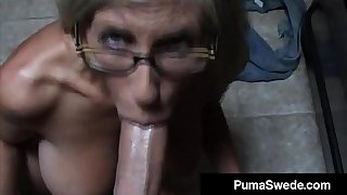 Euro Porn Star Puma Swede Gets Diaphanous Glasses Croak review Blow up Job!