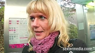 Ass Fuck Casting for Blonde Amateur MILF