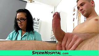 Big natural bowels lady Danielle handjob to skinny boy