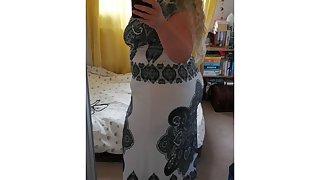 Tight Dress, Black Panties surpassing BBW Housewife