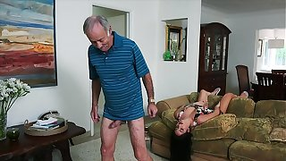 BLUE Dribble Males - We Succeed in Venerable Scrounger Johnny An Escort (Aria Rose) Just about Fulfill His Depraved Fantasies
