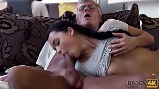 DADDY4K. Cock of grown-up dad satisfies girl's need up the pink dicking
