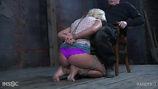 Whorish blondie Sophie Ryan gets punished and humiliated