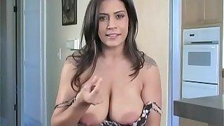 Fucking Raylene's huge tits concerning my tiny cock. Jerk Off MO