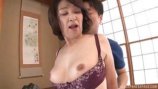 Amateur fucking clubby with amateur Japanese mature Kitamura Toshiyo